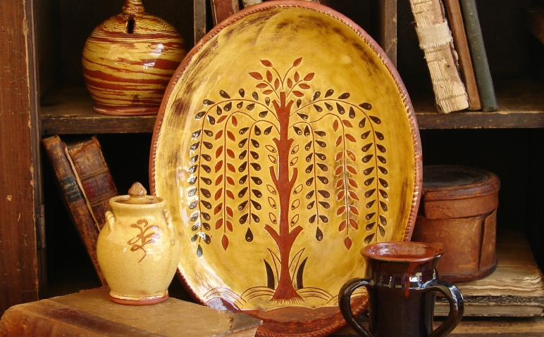 Kulina Folk Art platters, chargers and trenchers